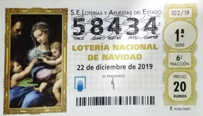 Décimo loteria navidad 2019